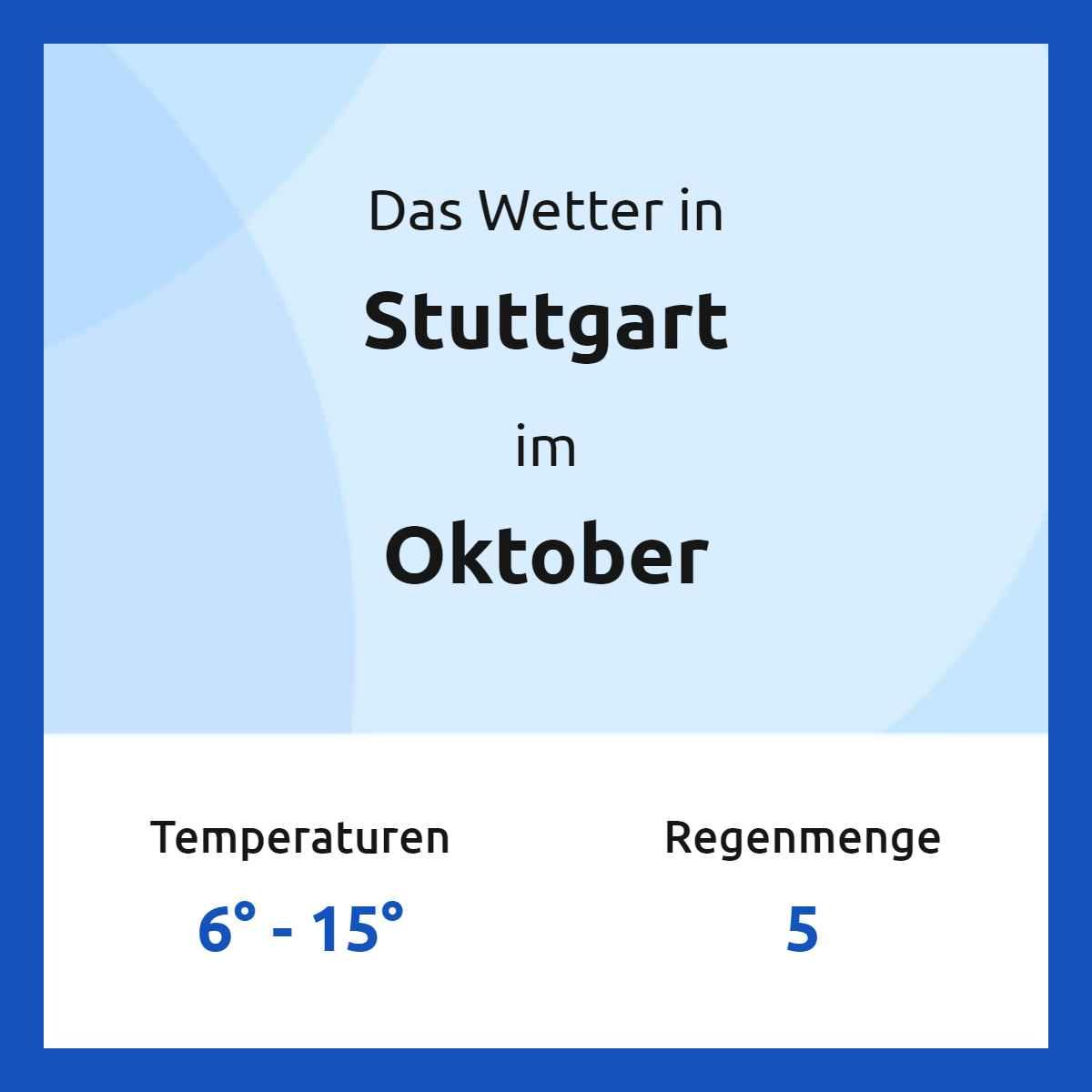 Stuttgart Wetter im Oktober 200   Wetter20.com